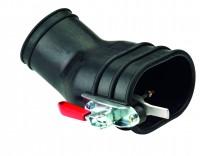 Gummimundstykke med holdetang for dobbelt udstødning (125 mm)
