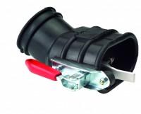 Gummimundstykke med holdetang for dobbelt udstødning (100 mm)