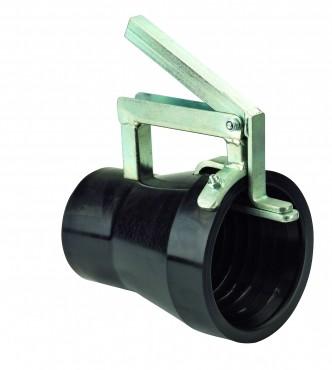 Gummimundstykke med holdetang (80 mm)