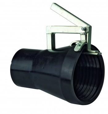 Gummimundstykke med holdetang (100 mm)