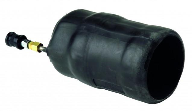 Gummimundstykke med skydeventil og trykluft regulator