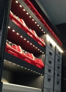 LED-Belysning i varebilen