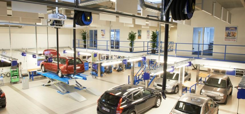 Slangerullerne monteret på værkstedet i Odense