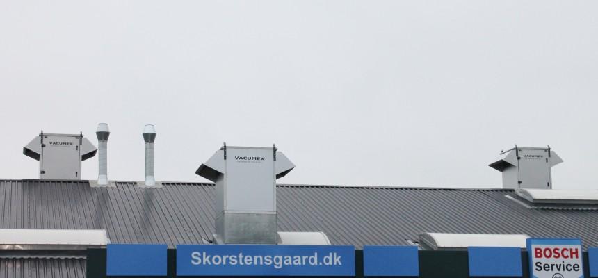Ventilation og udsugning til autoværksted