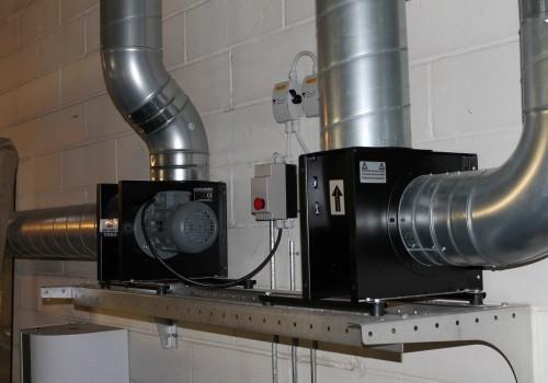 Ventilation og udsugning på autoværksted