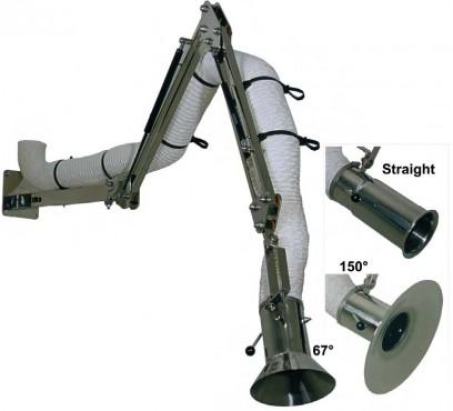 Syrefast rustfri punktudsugning 1,5-4 m 110 mm